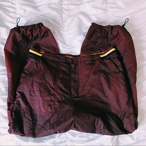 FREE PEOPLE MAROON TRACK PANTS